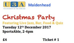 Christmas Party @ SportsAble | Maidenhead | England | United Kingdom