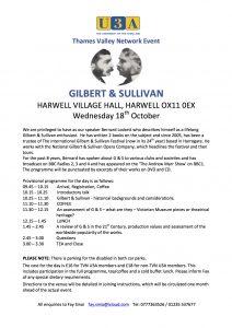 Gilbert & Sullivan Day @ Harwell Village Hall   Harwell   England   United Kingdom