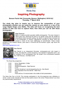 Inspiring Photography @ Benson Village Hall | United Kingdom